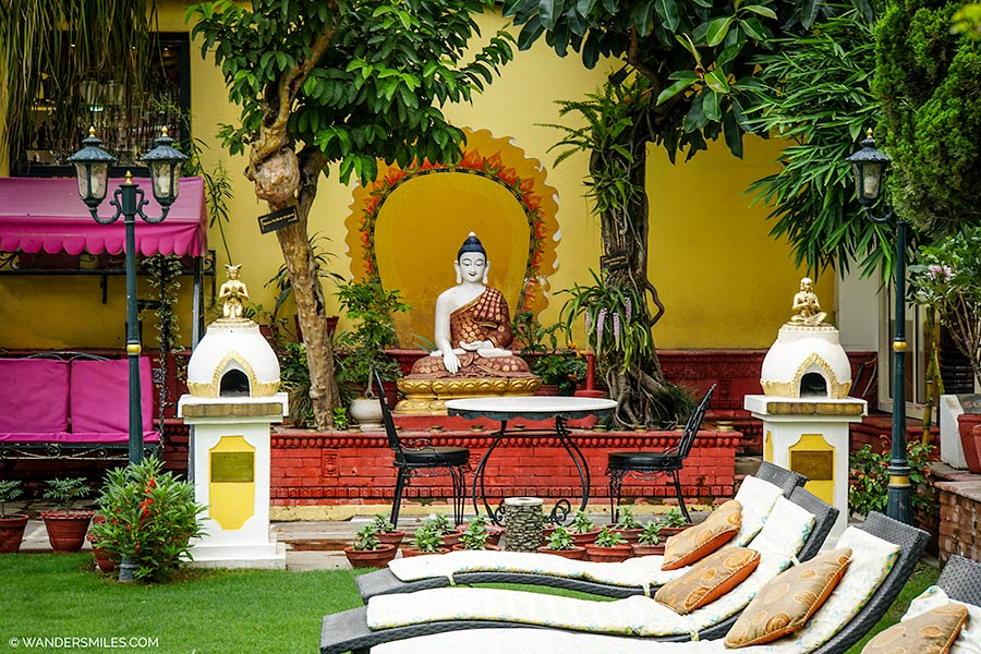 Buddha Gardens of Kathmandu Guest House in Nepal