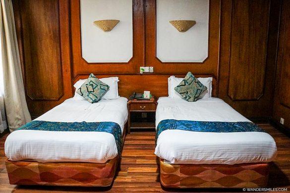 Standard twin bedroom in Kathmandu Guest House in Nepal