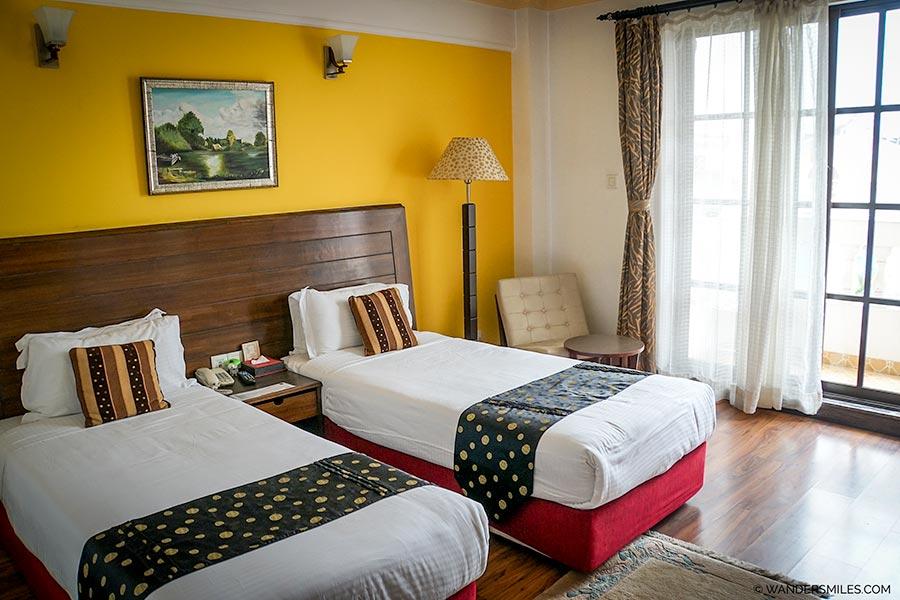 Deluxe bedroom in Kathmandu Guest House in Nepal