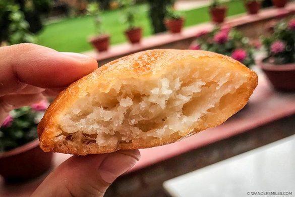 Malpuwa for breakfast at Kathmandu Guest House in Nepal