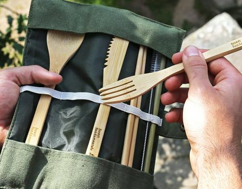 Bamboo Cutlery- Eco-friendly camping gear