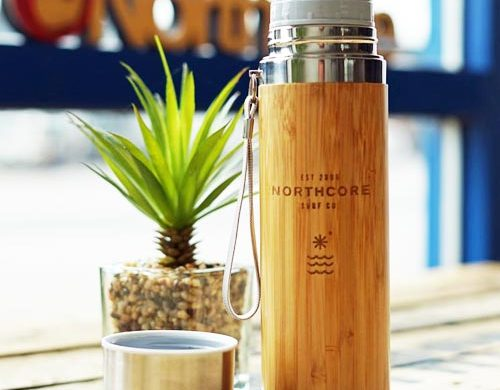 Bamboo Flask - Eco-friendly camping gear