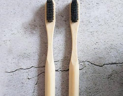 Bamboo Toothbrush with Charcoal bristles - Eco-friendly Camping gear UK