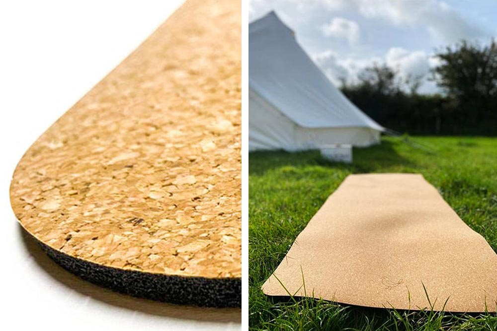 Eco-friendly Natural Rubber and Cork Yoga and Camping Mat - Made in UK
