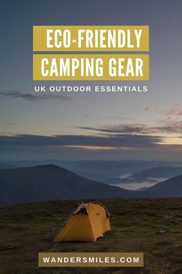 Guide to the best eco-friendly camping gear for a UK trip