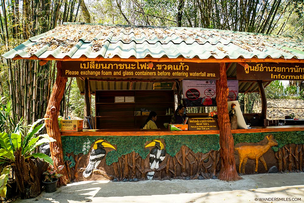 InRecycling Hut at Erawan National Park