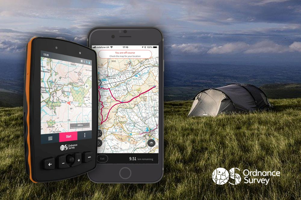 Maps and GPS Devices and Watches - Ordnance Survey Gear for Camping in the UK