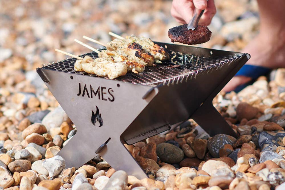 Personalised-Portable Camping Fire Pit UK