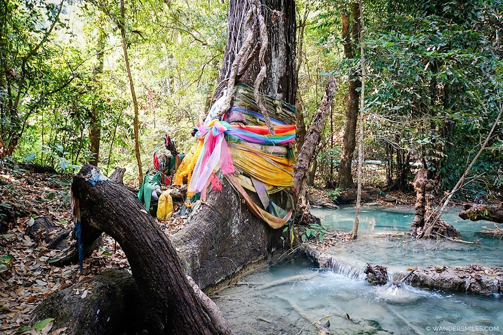 Prayer flags in Erawan National Park