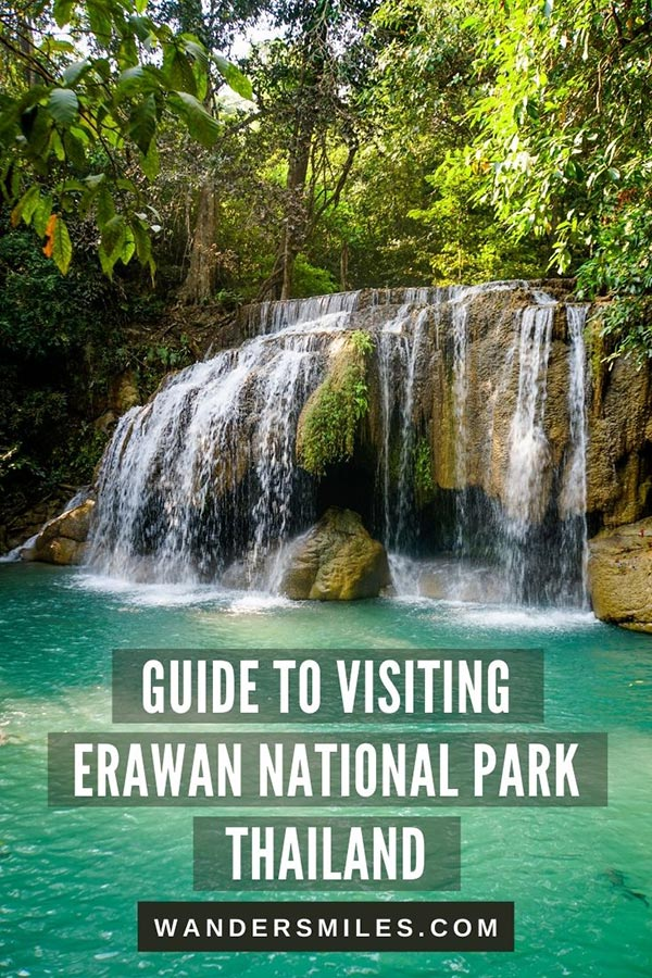Discover waterfalls at Erawan National Park, Thailand