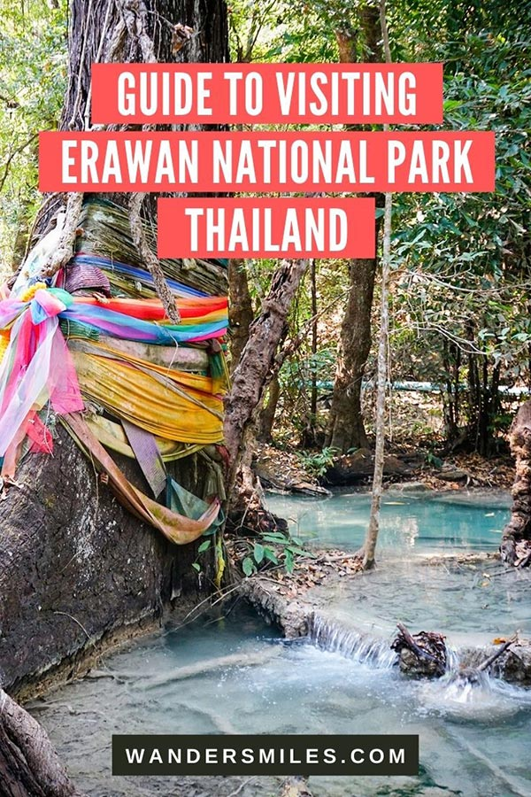 Explore the 7 levels of waterfalls at Erawan National Park, Thailand