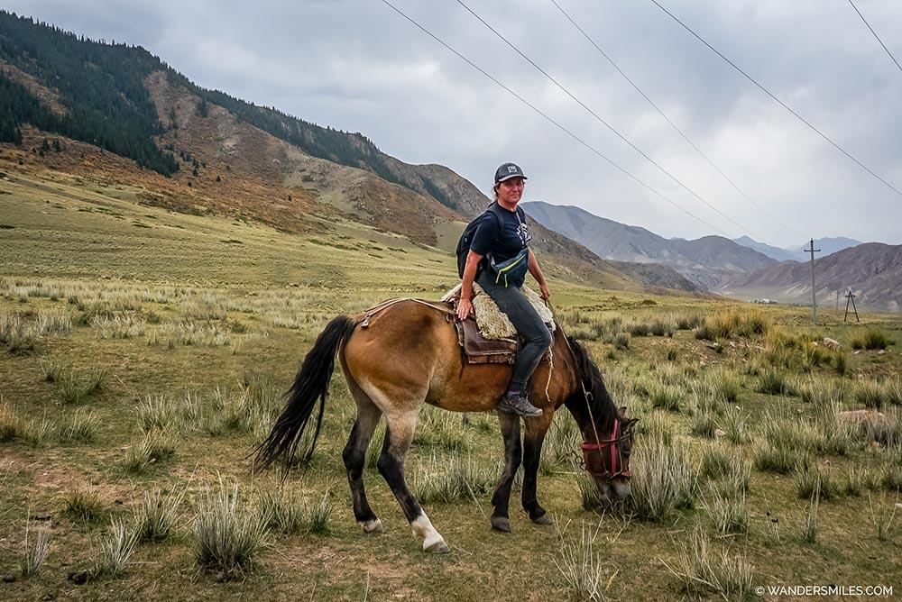 Horse riding in Kyrgyzsta