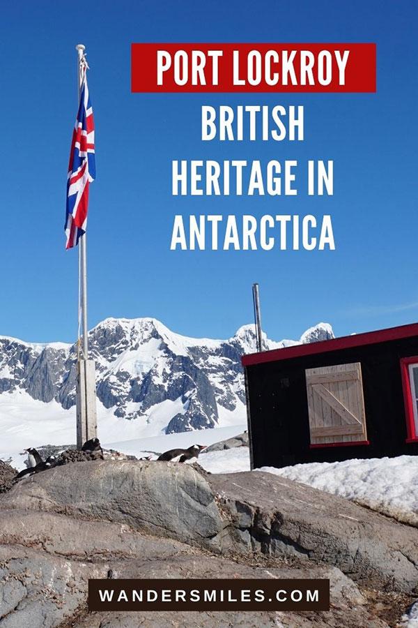 British flag at Bransfield House, Port Lockroy, Goudier Island, Antarctica