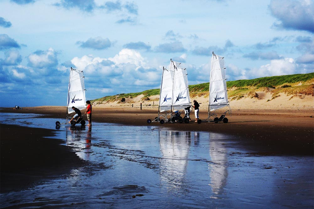 Beach Sailing in Texel, Netherlands