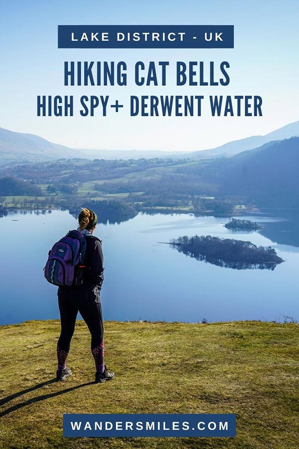 Route guide to hiking Cat Bells hike via Maiden Moor, High Spy and Derwentwater | Wanders Miles