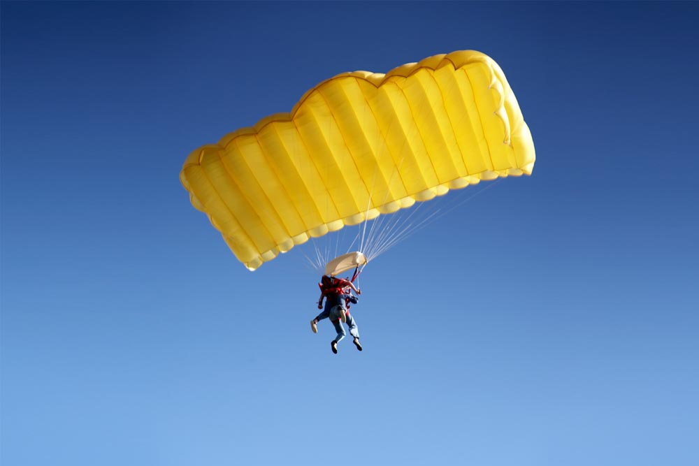 Parachute Jumping in Texel, Netherlands