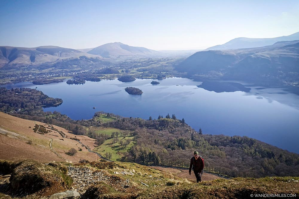 Scrambling up to Cat Bells, Lake District