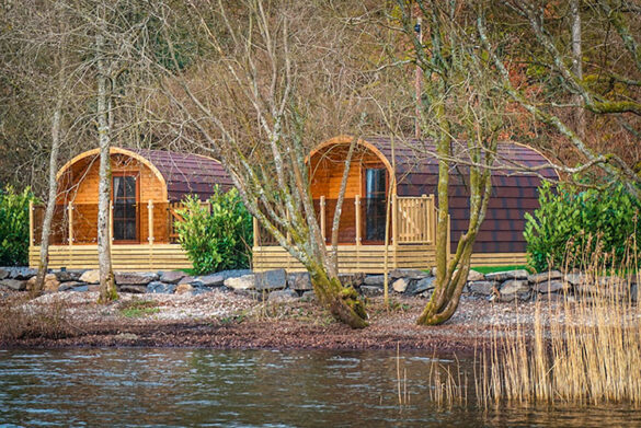 Lakeside pods at Hill Of Oaks, Windermere