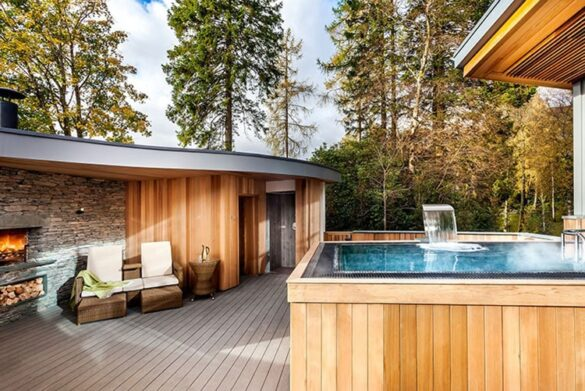 Outdoor spa at Langdale Hotel in Ambleside - Eco-friendly hotel in the Lake District