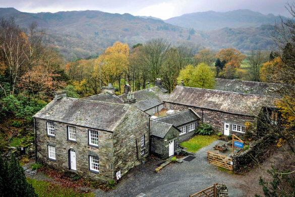 Aerial view of Thorney How - Eco-friendly guest house in Grasmere, Lake District