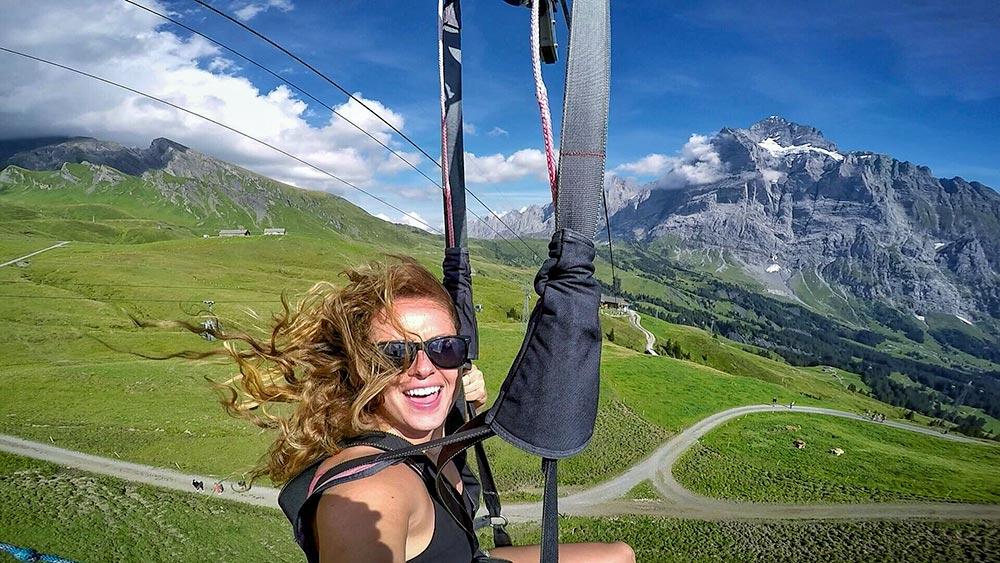 First Fleider Zipline in Switzerland
