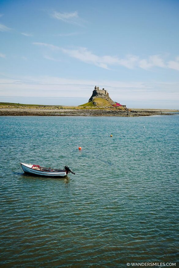 View of Lindisfarne Castle from Holy Island Harbour