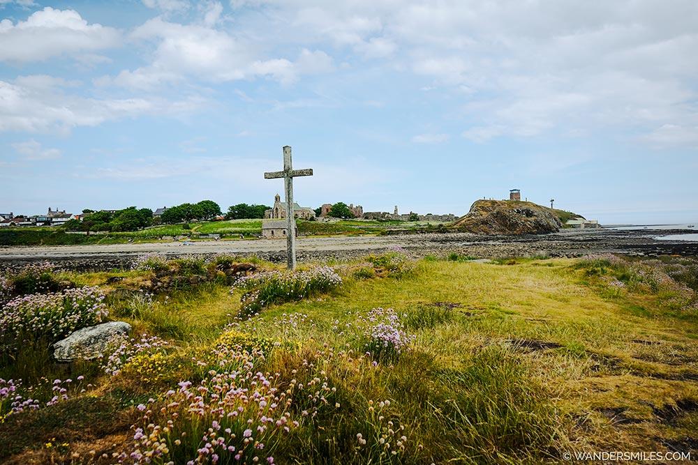 Cross on St Cuthberts Island, Northumbria