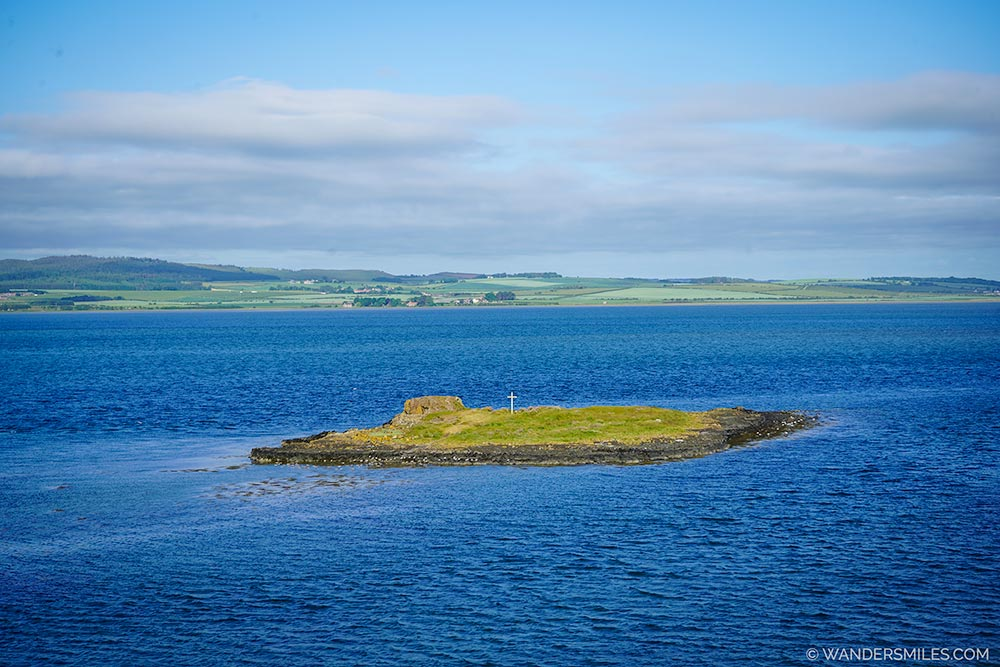 St Cuthberts Island at high tide