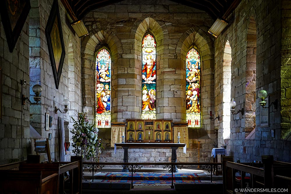 St Marys Church on Holy Island, Northumberland