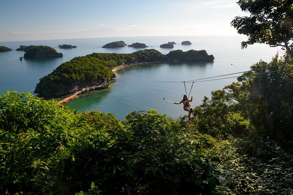 Hundred Island National Park zipline in the Philippines
