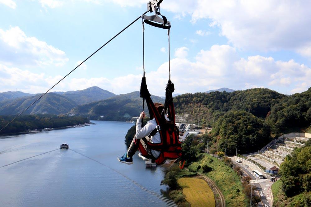 Nami Island Zipline in South Korea