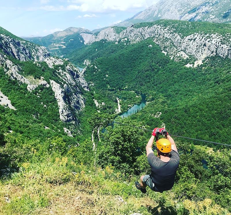 Omis Zipline in Croatia