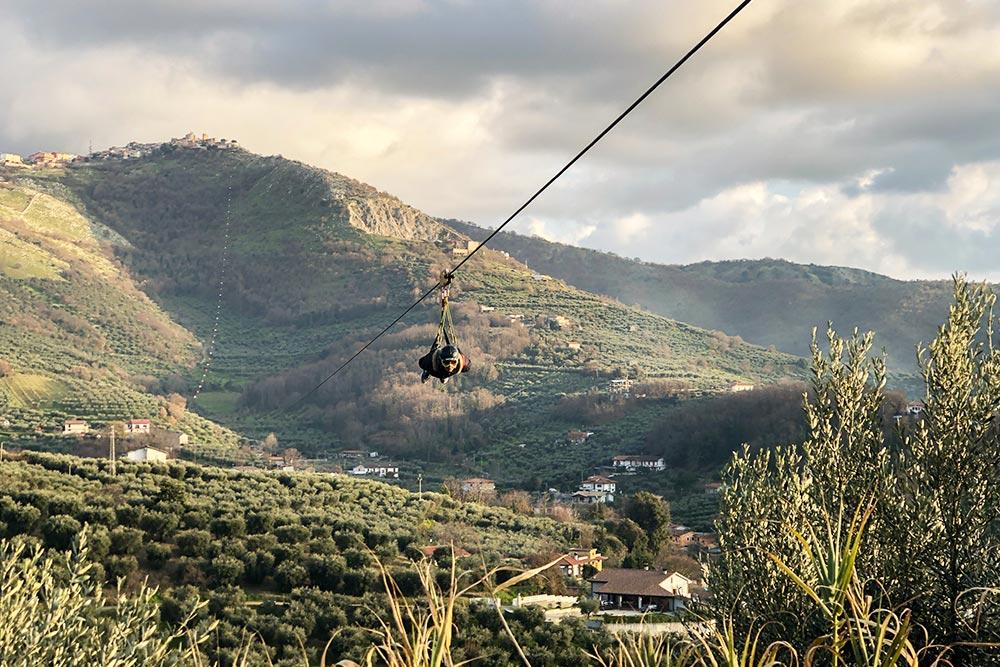Rocca Massima Zipline in Italy