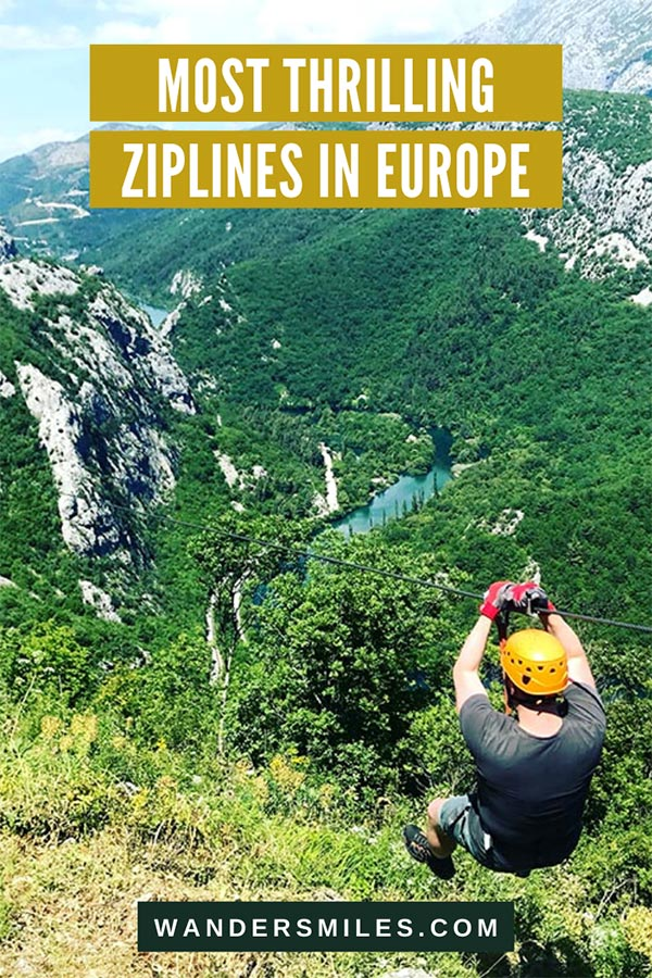 Explore the most thrilling ziplines in Europe