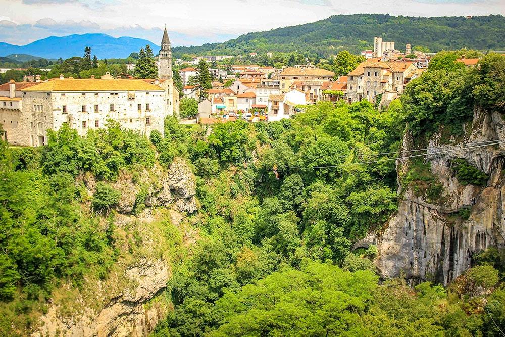 Pazinska Jama zipline - Istria, Croatia
