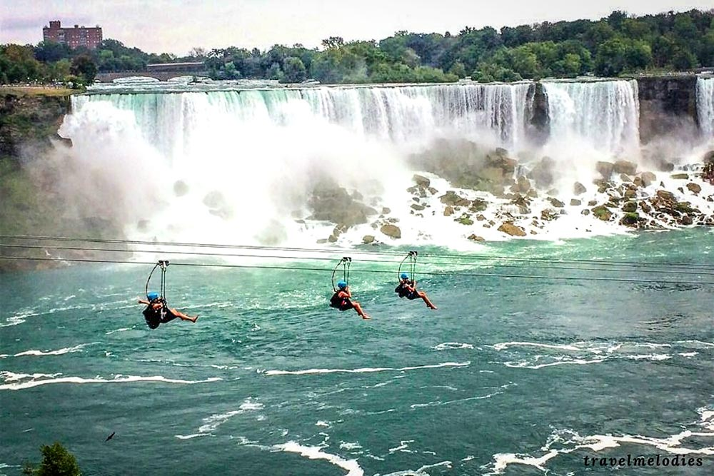 Niagara Falls zipline in Canada