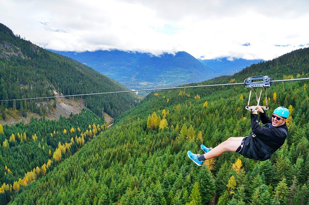 Superfly zipline in Whistler, Canada