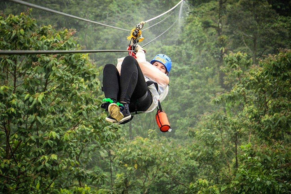 Zipline at La Fortuna, Costa Rica