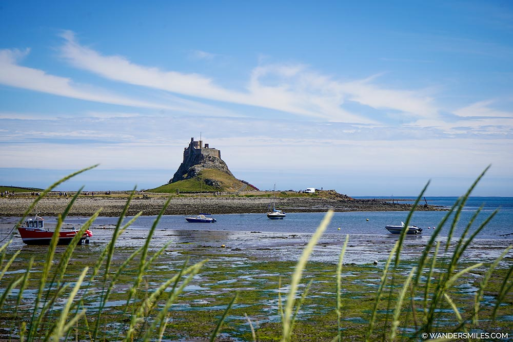 Lindisfarne Castle from Holy Island Harbour
