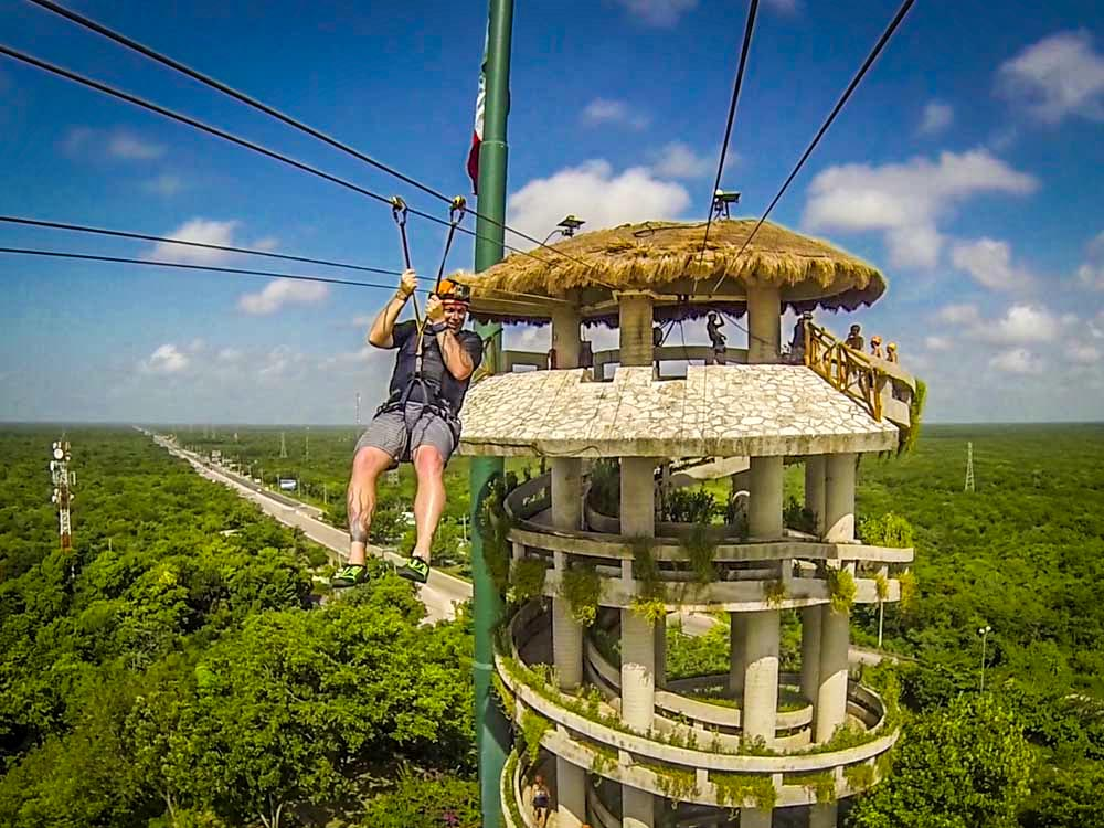 Xplor Park Zipline in Mexico