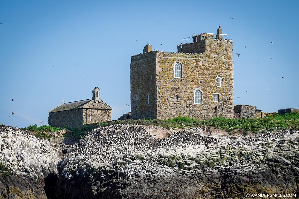 Prior Castell's Tower and Chapel of St Cuthbert of Inner Farne Island