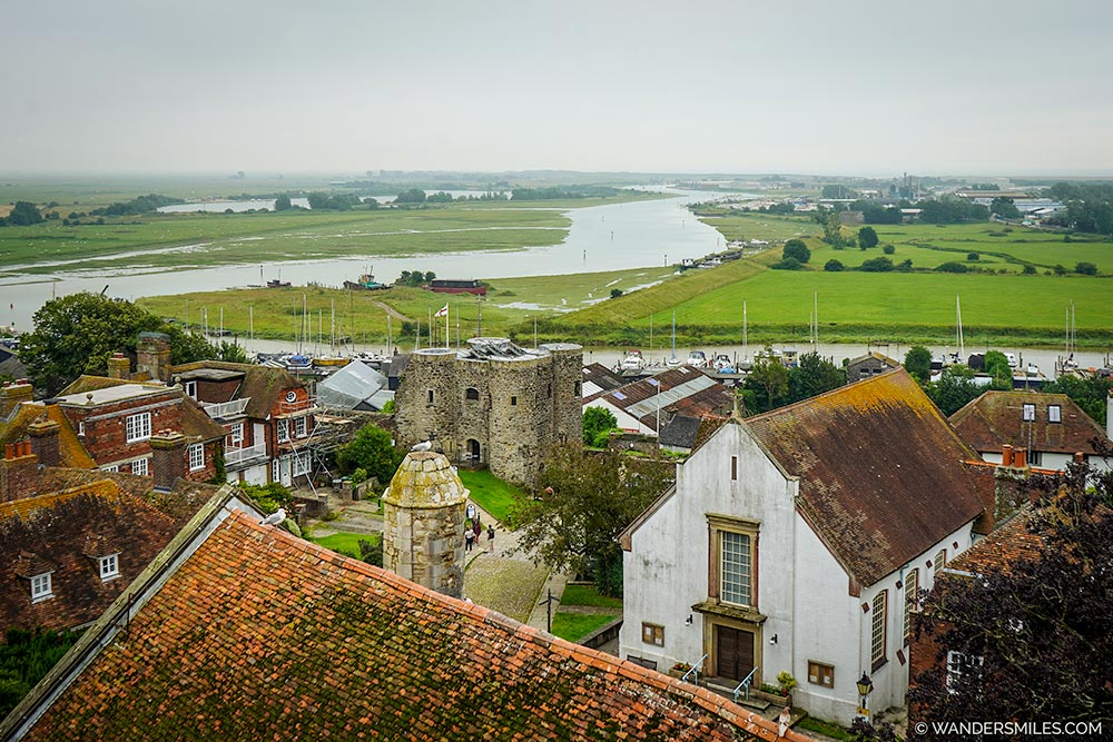 Rye Castle View from St Mary Church Belfry Tower