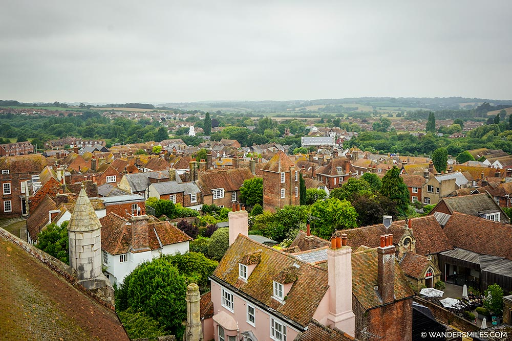 Rye views from St Mary Church belfry tower
