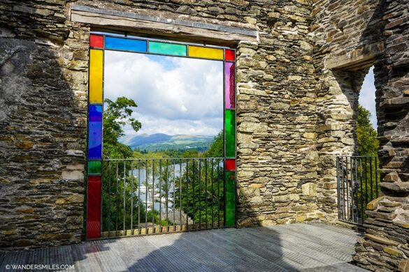 Claife Viewing Station with coloured glass at Windermere