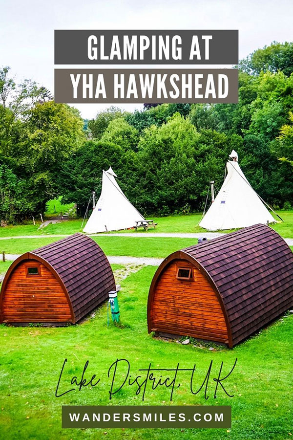 Glamping at YHA Hawkshead in tipis and cabins, Lake District