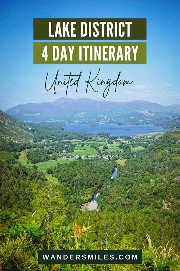 Best Lake District Itinerary 4 days - Hawkshead, Borrowdale & Grasmere