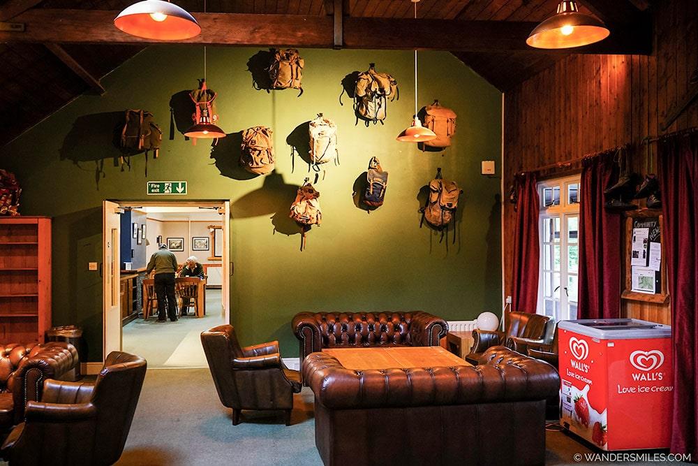Communal Bar Area at YHA Borrowdale