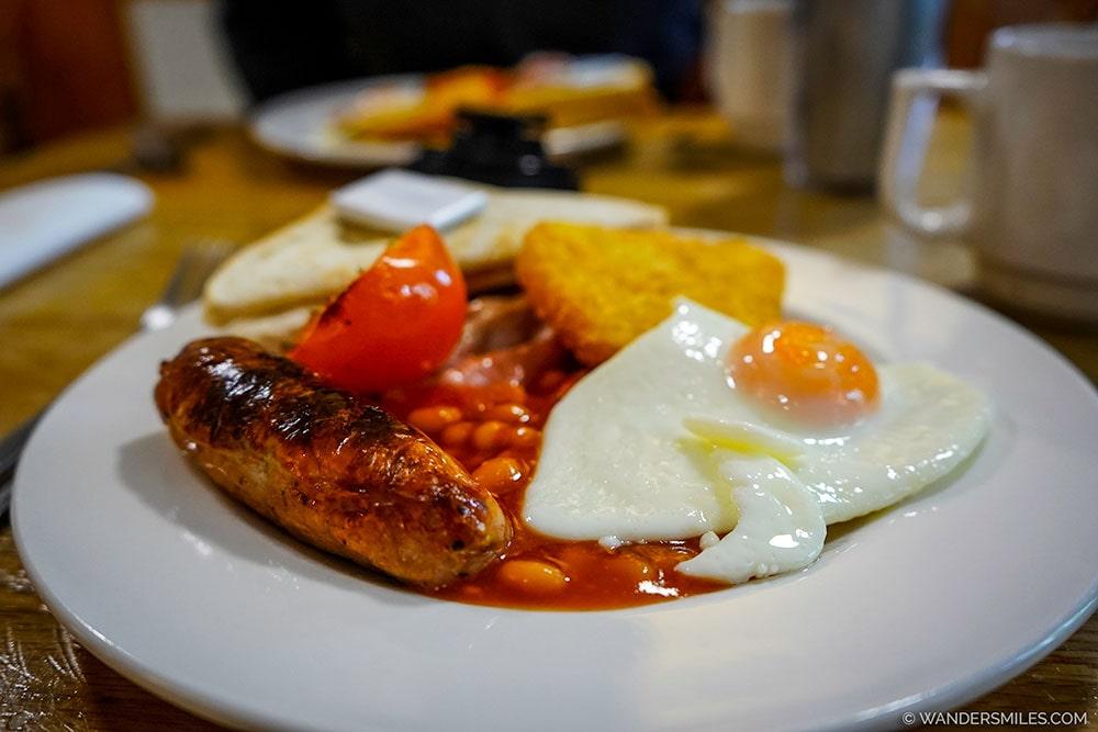 Full English Breakfast at YHA Borrowdale
