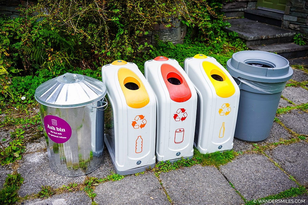 Recycle bins at Grasmere Butharlyp Howe
