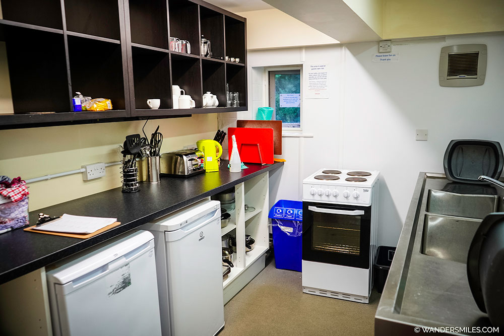 shared kitchen at Howe Lodge, YHA Grasmere Butharlyp Howe